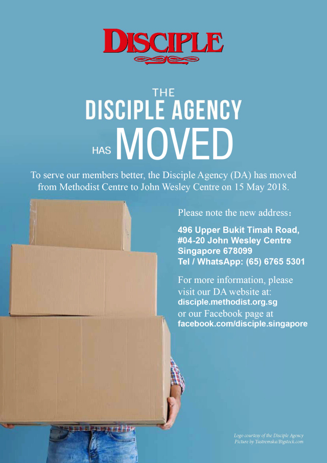 Disciple Agency is Moving